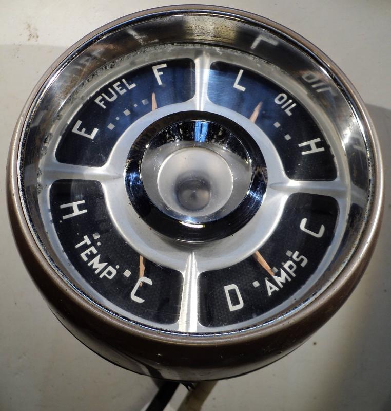 1957  Chrysler Windsor  instrumenthustankmätare, ampärmätare, tempmätare, oljetrycksmätare