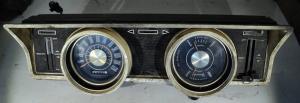 1967 Ford Falcon     instrumenthus  hastighetsmätare, tankmätare, tempmätare, värmereglage