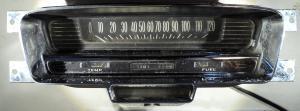 1959   Cadillac      instrumenthus      hastighetsmätare, tankmätare, tempmätare, växelindikator (dåligt krom, ettbrott på kortet se foto)