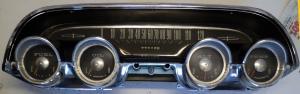 1964 Mercury  instrumenthus hastighetsmätare, tankmätare, ampärmätare, tempmätare, oljetrycksmätare