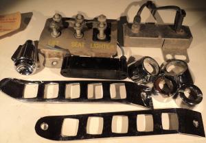 1960  Chrysler Imperial     diverse detaljer instrumentbrädan (el ej testat)