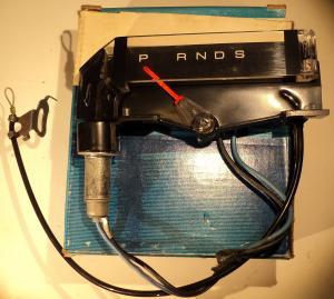 1972 Ford Galaxie  växelindikator D2AZ-7A110-D (Service Parts) NOS