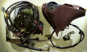 1962   Cadillac    farthållare (cruise control) delar ej komplett system (wire trasig se bild)