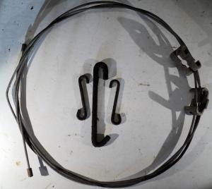 1972   Buick Electra    handbromswire mellandel med krokar och skarvbit