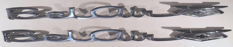 1966   Chevrolet  Belair   emblem  höger och vänster