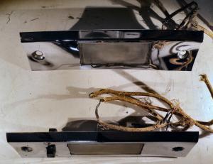 1955  DeSoto     belysning instrumentbrädan   (små porer i krom)