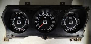1972 Ford Torino   instrumenthus  hastighetsmätare KPH, tankmätare, tempmätare
