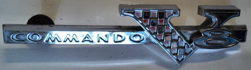 1965 Plymouth Fury  emblem COMMANDO V8