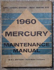 1960 Mercury fullsize verkstadshanbok