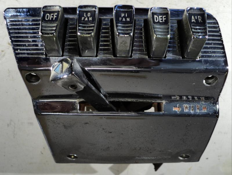 1960 Chrysler Windsor        värmereglage