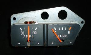 1954 Oldsmobile temp och amp mätare
