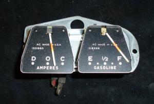 1958 Buick ampere och tankmätare