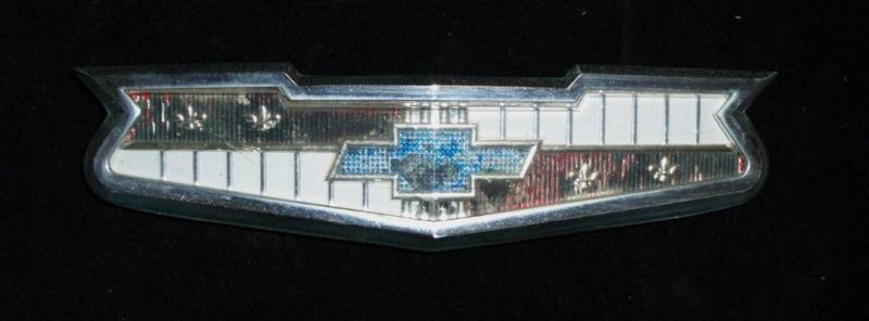 1958 Chevrolet emblem huv