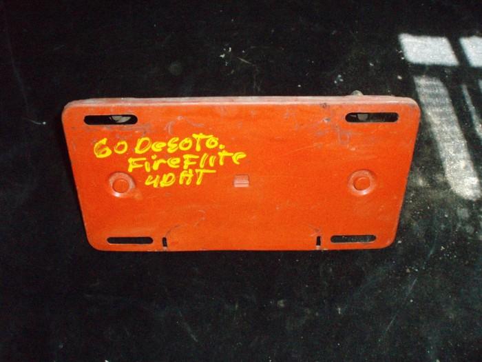 1960 Desoto Fireflite 4dr ht tanklockslucka / skylthållare