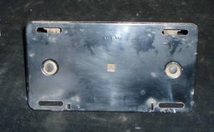 1960 Desoto tanklockslucka / skylthållare