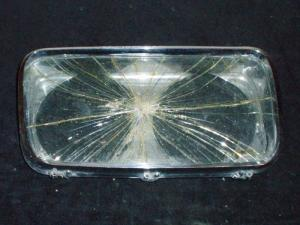 1965 Imperial lampsarg höger (dåligt glas, bra krom)