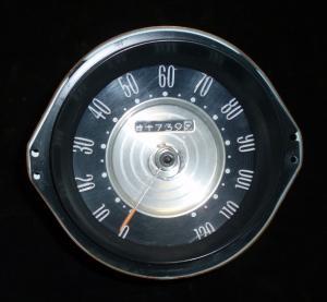 1965 Buick LeSabre hastighetsmätare (trasigt glas)