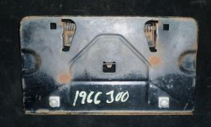 1966 Chrysler 300 tanklockslucka/skylthållare
