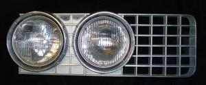 1967 Oldsmobile 98 grillhalva höger
