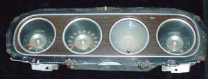 1970 Mercury Cougar instrumenthus (med klocka)
