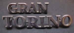 1972-73 Gran Torino emblem set