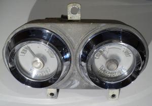 1956  Desoto     tempmätare, oljetrycksmätare (dåligt glas, fungerande mätare)