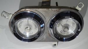 1956  Desoto     tankmätare, ampärmätare (dåligt glas, fungerande mätare)