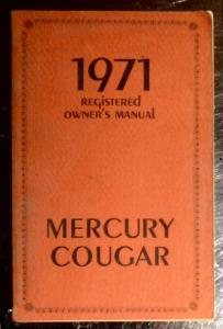 1970 Mercury Cougar owners manual