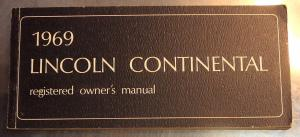 1969 Lincoln Continental owners manual