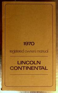 1970 Lincoln Continental owners manual