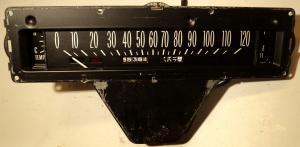 1961   Cadillac    hastighetsmätare   temp, tank mätare
