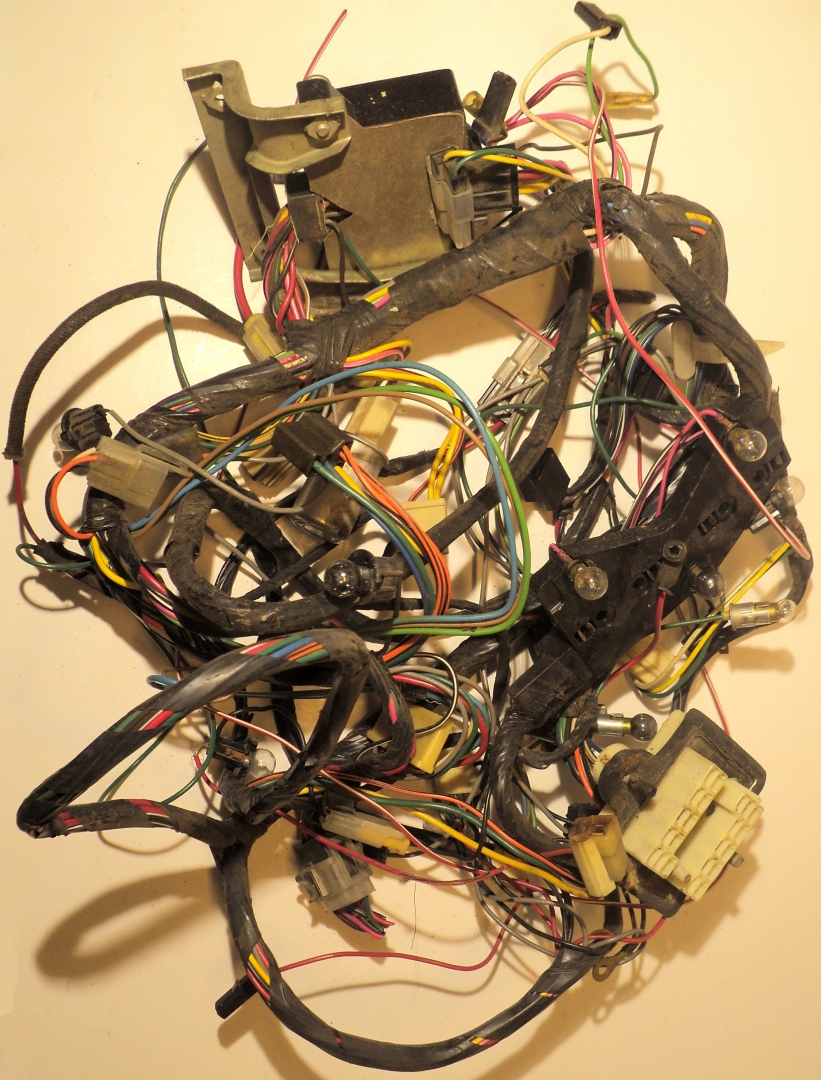 40 Cadillac wiring harness under the dashboard