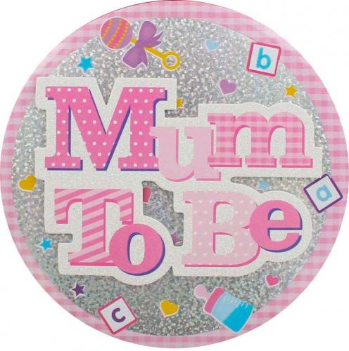Stort emblem - Mum to Be - Rosa