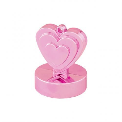 Hjärtformad Tyngd Ljusrosa