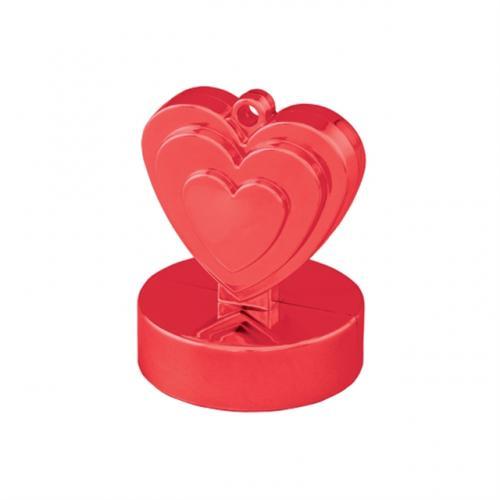 Hjärtformad Tyngd Röd