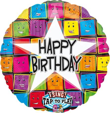 "28"" (71 cm) Sing-A-Tune Happy Birthday stjärna"
