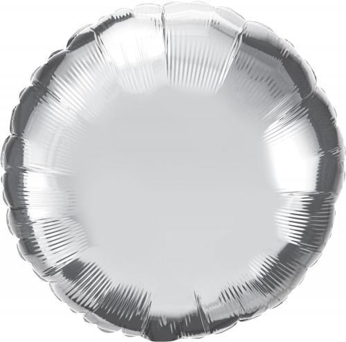 """36"""" (90 cm) Rund Silver"""