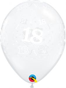 """11"""" (28 cm) 18 Årsballong"""
