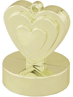Hjärtformad Tyngd Guld