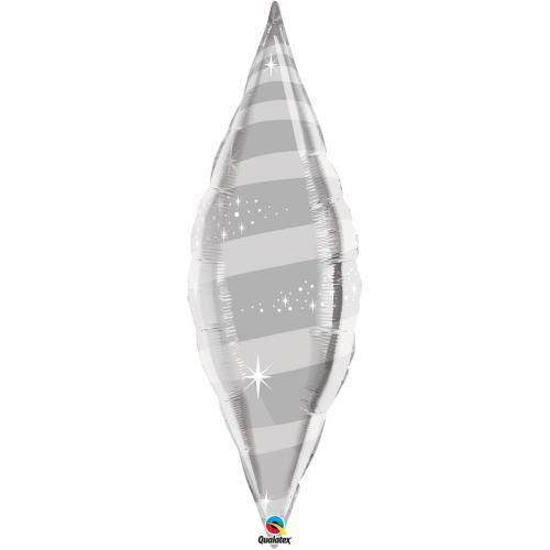 "38"" (96 cm) Taper Swirl Silver"