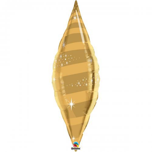 """38"""" (96 cm) Taper Swirl Guld"""