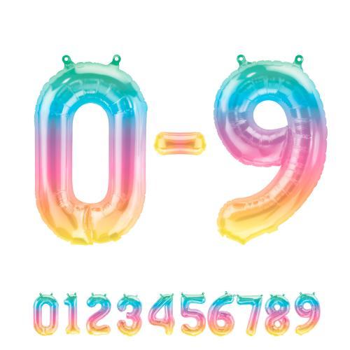 """16"""" (41 cm) Siffror Jelly Ombre"""