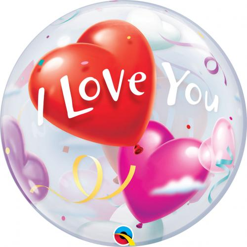 "22"" (55 cm) I Love You Hjärta"