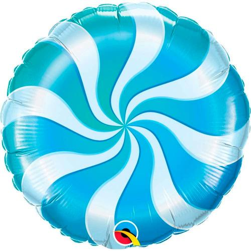 """18"""" (46 cm) Blå Godisballong"""