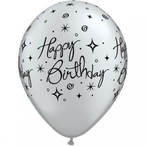 """11"""" (28 cm) Happy Birthday Glitter & Virvlar"""