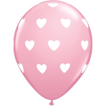 "11"" (28 cm) Stora Hjärtan Rosa"