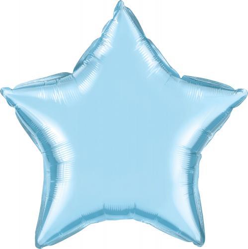 """36"""" (90 cm) Stjärna Pärlemo Ljusblå"""