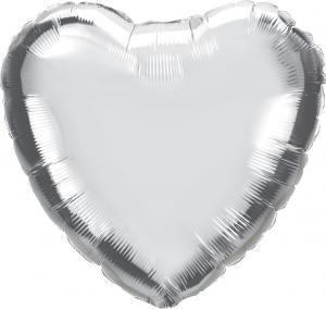 """18"""" (46 cm) Hjärta Silver"""