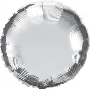 """18"""" (46 cm) Rund Silver"""