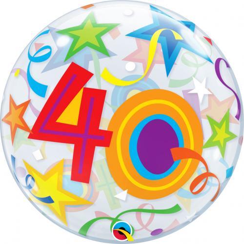 """22"""" (55 cm) Födelsedag 40 År"""